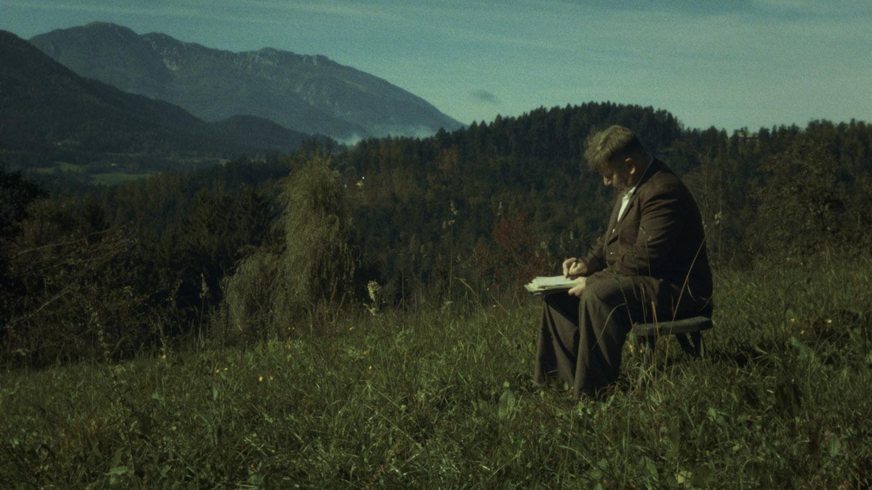 Prizor iz filma; Srečko Kermavner v vlogi Prežihovega Voranca