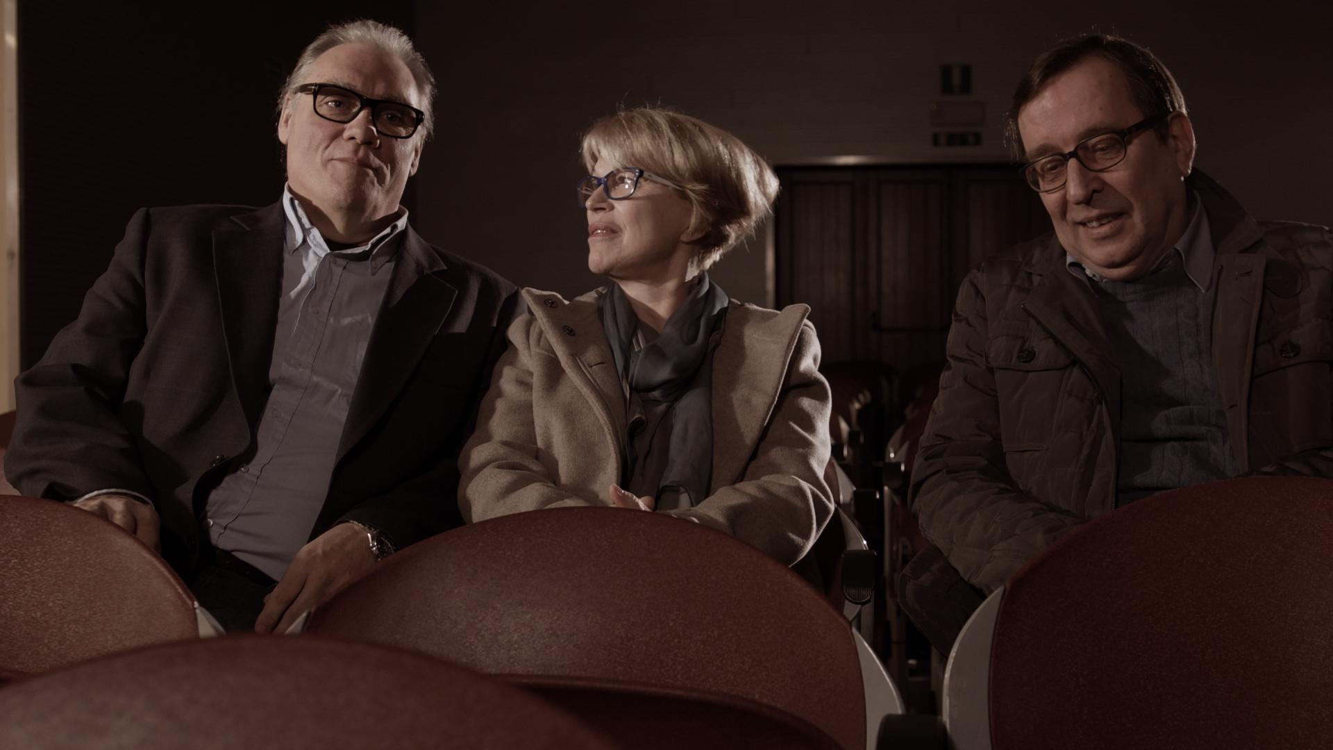 Z leve: Boris Kobal, Bogomila Kravos, Ivan Verč (nastopajoči v filmu)