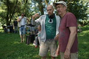 Martin Turk, režiser (levo); Radislav Jovanov-Gonzo, direktor fotografije