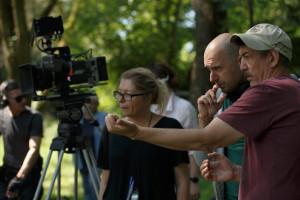 Z leve: Petra Trampuž (skript), Martin Turk, režiser; Radislav Jovanov (direktor fotografije)